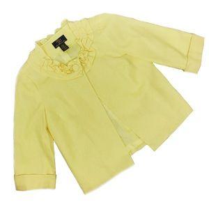Vintage Trenz Yellow Button Ruffle Mad Men Jacket
